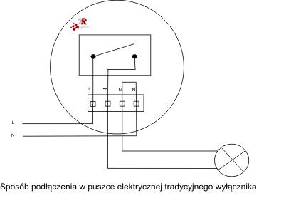 Schemat podłączenia odbiornika Home Control